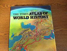 THE TIMES ATLAS OF WORLD HISTORY-REVISED 1980-LARGE HB/J-SUPERB ILLUS CLASSIC NF