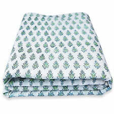 5 Yards Hand Block Print Pure Cotton Hand Made Fabric Sanganeri Print Fabric