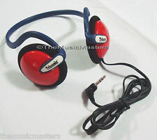 Kids On-ear Neckband Sport Style Wired Stereo Headphones Earphones Headset Red