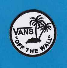Vans off the Wall SKATEBOARD BLACK & WHITE IRON ON PATCHES