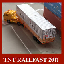 "HO Gauge ""TNT Railfast"" Shipping Container Model Railway Card Kits 20ft 4 x 1:87"