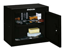 NEW Stack-On GCB-500 Steel Pistol/Ammo Cabinet Black Gun Home Security Safe