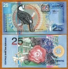 Suriname / Surinam 25 Gulden, 2000, P-148, UNC   colorful