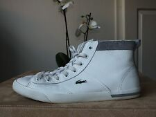 Lacoste white genuine leather high tops trainers uk 6/ eur 39.5