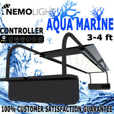 Nemo Light Aqua Marine Coral Reef Aquarium Fish Tank Control LED Light 54W 3-4ft