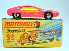 Matchbox SF Nr.20A Lamborghini Marzal hot pink dünne Räder top in Box