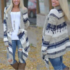 Women Cardigan Long Sleeve Knitted Sweater Outwear Loose Jacket Coat  Lady Tops