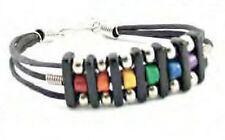 Pride Shack - Trio Beaded Rainbow Gay Pride LGBT Lesbian Wristband Bracelet