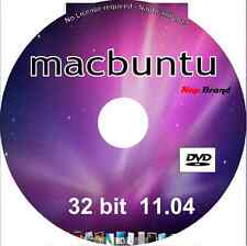 macbuntu 11.04 OS X mac lookalike o/s 32 bit Linux DVD run in memory or install