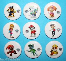 Paw Patrol Party Favours Badge 3cm Piñata Toy Fillers Bag 9 Tin Buttons XMAS NEW