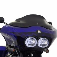 "Klock Werks 8"" Black Tint Flare Windshield Wind Screen Harley Road Glide Touring"