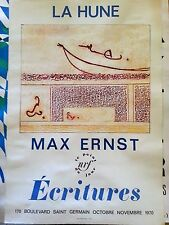 Original poster paris france 1970 La Hune Max Ernst Ecritures rare offset