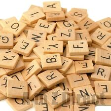 100 piece Wooden Scrabble Tile Set