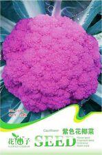 20 Original Pack Seeds Purple Cauliflower Seeds Broccoli Organic Vegetable C065
