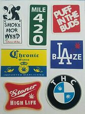7 POT WEED MARIJUANA DOPE HIGH CANNABIS THC 420 VINYL DECALS STICKER