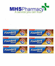 6x Fixodent Plus Dual Power For Full & Partial Denture Adhesive Cream 40g