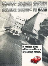1968 SAAB V-4 96 Sedan Original Advertisement Car Print Ad J373