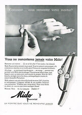 PUBLICITE ADVERTISING 024   1958   MIDO   collection montres POWERWIND
