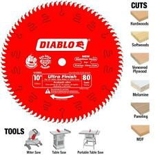 "Freud 10"" x 80 Tooth Diablo Ultra Finish Blade D1080X NEW"