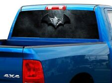 P505 Batman Rear Window Tint Graphic Decal Wrap Back Truck Tailgate