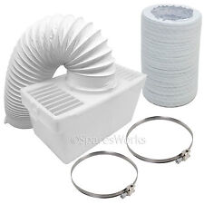 4 Ft Hose Condenser Box Extra Long Pipe & Clips for WHITE KNIGHT Tumble Dryer
