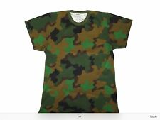 "Dutch Army Surplus Camuffamento Girocollo Manica Corta T-SHIRT GIROCOLLO XL 48"" RIF. 696"