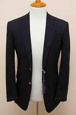NEW Ralph Lauren Purple Label Navy Blue Two Button Jacket Sportcoat Blazer 40L