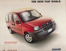 Fiat Doblo Estate 2000-01 UK Market Launch Foldout Brochure 1.2 1.9D SX ELX