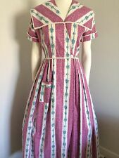 Orginal Vintage 50s House Coat Dress Nightgown,  Dressing Gown ,Pinup Rockabilly