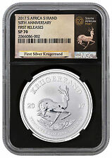 IN STOCK!! 2017 1 oz. Silver Krugerrand NGC SP70 FR Black Core Exclusive Label