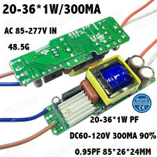 5PCS 85-277V LED Driver 20-36x1W 300mA DC60-120V PFC ConstantCurrent 20-36PCS 1W