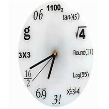 DIY Modern Digital Home MATH EQUATIONS WALL CLOCK WHITE BOARD PROFESSOR TEACHER