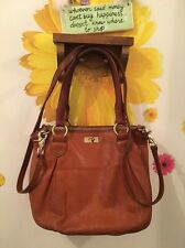 J CREW BROWN LEATHER HOBO SATCHEL HAND/CROSS BODY ULTRA URBAN FUNKY MRSP $298