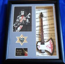 Kiss Gene Simmons Framed Miniature Tribute Guitar with Plectrum