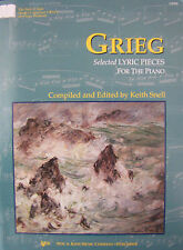 GRIEG Selected Lyric Pieces for the Piano - Published by Kjos (GP393)  NEW