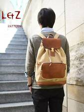 leather craft pattern backpack pattern BDQ-36 leather template knapsack awl