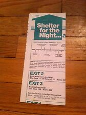 1984 Ohio Turnpike Shelter For The Night Brochure Hotel Motel Guide By Exit Rare