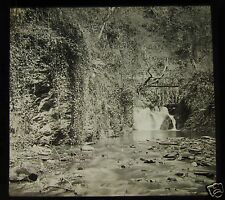 Glass Magic Lantern Slide LOWER FALL GLEN MAYE IOM C1910 ISLE OF MAN
