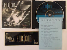RUBICON (Fields Of The Nephilim) 'What Starts, Ends' CD + promo sticker + flyer!