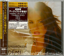 Demi Lovato UNBROKEN 2012 Japan Deluxe CD + DVD AVCW-13137/8 Bonus Songs SEALED