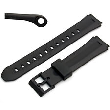 Watch Band/Strap to fit Casio F-201, F201W 18mm Black Resin