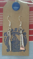 Kitsch Toothpaste & Toothbrush Hygienist/Dentist Silver Plated Earrings