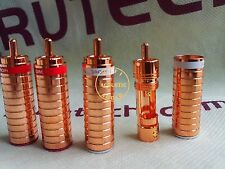 4Pc Eutectic Copper  Red Copper Plating RCA Plug Connector Plug Audiophile