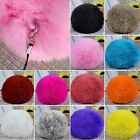 Charming Real Farm Rabbit Fur Ball Key ChainsMobile Phone Soft  String Pendant