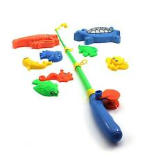 Educational Fish Pond Game Magnetic Fishing Pole Rod & Fish Model Set Kid Toy