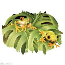 Frogs HEAT PRESS TRANSFER for T Shirt Sweatshirt Tote Bag Quilt Fabric  261e