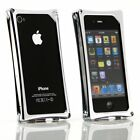 Wicked Metal Jacket WMJ Alloy Hard Frame Case for iPhone 4/4S Silver Chrome