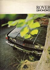 Rover P6 2000 SC & TC 1966-67 Original UK Market Foldout Sales Brochure