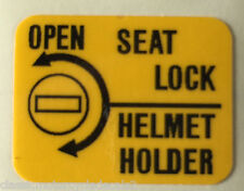 HONDA NS400R SEAT LOCK HELMET HOLDER CAUTION WARNING LABEL DECAL