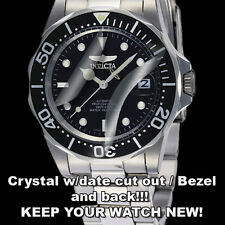 Invicta Pro Dive ZAGG Crystal Protector anti-scratch w/DateWindow Cutout/Bezel!!